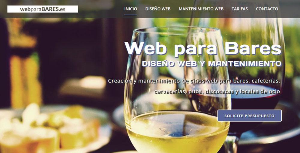 Web para bares