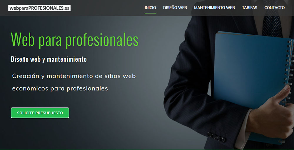 Web para profesionales