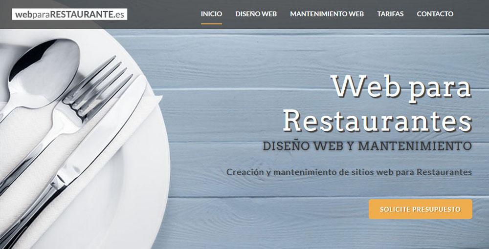Web para restaurantes